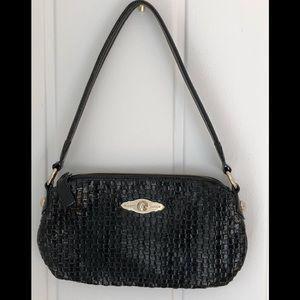 Elliott Lucca Patent Leather Woven Shoulder Bag